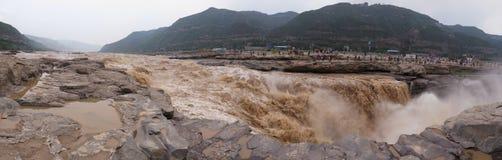 Panoraman av den Huko vattenfallet Royaltyfria Foton