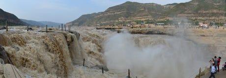 Panoraman av den Huko vattenfallet Arkivbilder