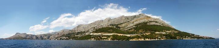 Panoraman av den kroatiska ön Fotografering för Bildbyråer