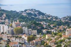 Panoraman av Marseilles Royaltyfri Foto