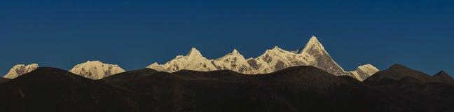 Panoraman av Namjagbrawa Royaltyfria Foton