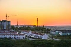 Panoraman av staden av Belgorod royaltyfri foto