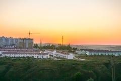 Panoraman av staden av Belgorod royaltyfri bild