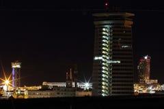 Panoramanacht Barcelona Lizenzfreies Stockfoto