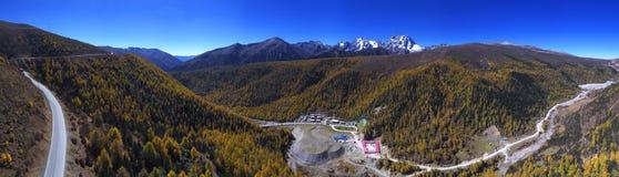 Panoramaof Snow Mountain `Baima` Royalty Free Stock Images