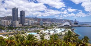 Panoramaosanta Cruzf Tenerife royalty-vrije stock foto