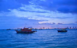 panoramapattaya sommar thailand Arkivbild