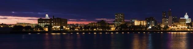 panoramapeoria solnedgång Arkivbilder