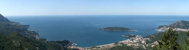 Panoramarücksortierungküste Stockfotos