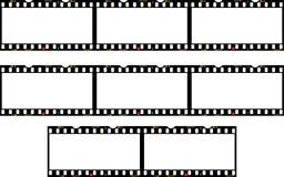 Panoramaramar av fotofilmen Arkivbild