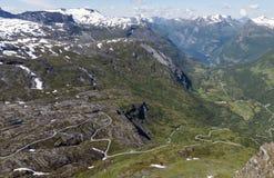 Panoramaroad Norge för Dalsnibba väg 63 Royaltyfri Fotografi