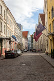 24-27 08 2016 panoramas aéreos bonitos da skyline do verão cênico da cidade velha em Tallinn, Estônia Imagens de Stock Royalty Free