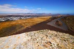 Panoramas arrecife Lanzarote Ισπανία Στοκ φωτογραφία με δικαίωμα ελεύθερης χρήσης