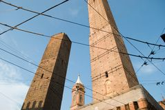 Bologna in the Middle Ages was called the city of the hundred towers royalty free stock photo