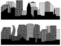 Panoramas das cidades ilustração do vetor