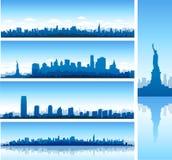 Panoramas de New York City Imágenes de archivo libres de regalías