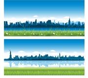 Panoramas de New York City Fotos de archivo