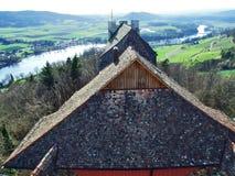 Panoramas du point de vue au château de Hohenklingen, Stein am Rhein photos stock