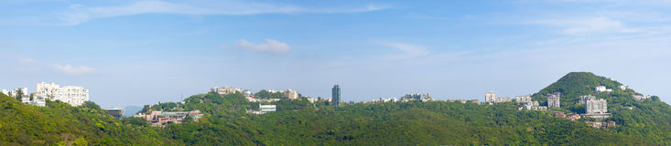 Panoramas of HongKong Peak Stock Photo
