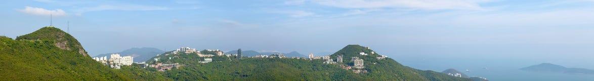 Panoramas van de Piek van Hongkong Stock Afbeelding