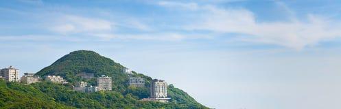 Panoramas van de Piek van Hongkong Stock Fotografie