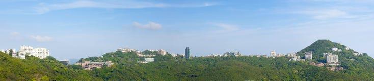 Panoramas van de Piek van Hongkong Stock Foto