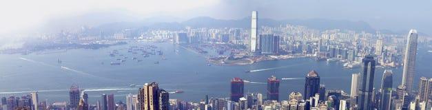 Panoramas van Hong Kong West Royalty-vrije Stock Afbeelding
