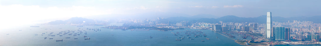 Panoramas van Hong Kong West Royalty-vrije Stock Fotografie