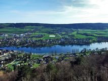 Panoramas from the viewpoint at Hohenklingen Castle, Stein am Rhein royalty free stock images