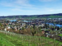 Panoramas from the viewpoint at Hohenklingen Castle, Stein am Rhein royalty free stock photo