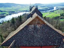 Panoramas from the viewpoint at Hohenklingen Castle, Stein am Rhein stock photos