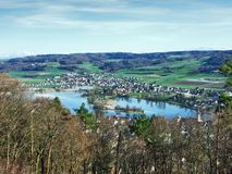 Panoramas from the viewpoint at Hohenklingen Castle, Stein am Rhein royalty free stock image