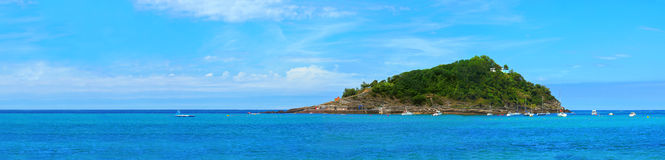 panoramasan hav sebastian spain Arkivbild