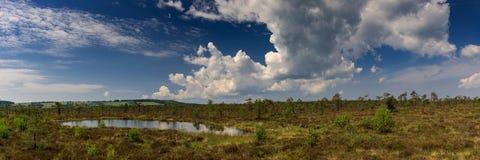 PanoramaSchwarzes hed, Rhoen arkivfoton