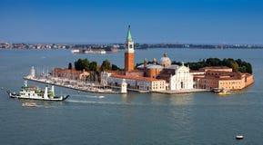 Panoramaseeansicht von Venedig Italien Stockfotografie