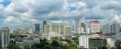 Panoramasikt av centret, Bangkok Royaltyfri Foto
