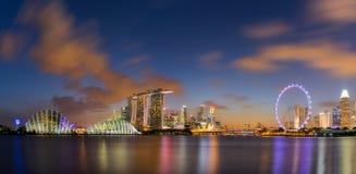 Panoramasikt av den Singapore staden Fotografering för Bildbyråer