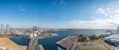 Panoramasikt av den Yokohama fjärden Royaltyfria Bilder