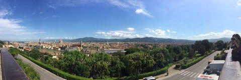 Panoramasikt av Florence San Niccolo Fotografering för Bildbyråer