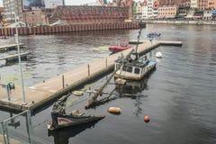 Panoramasikt av Gdansk Royaltyfri Fotografi