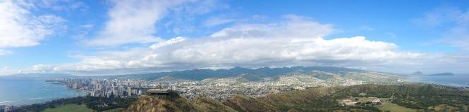 Panoramasikt av Oahu Fotografering för Bildbyråer