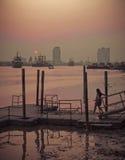 Panoramasikt av pir Royaltyfri Fotografi