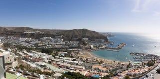 Panoramasikt av Puerto Rico Beach Arkivfoto