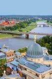 Panoramasikt, Dresden, Tyskland Arkivfoto