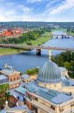 Panoramasikt, Dresden, Tyskland Fotografering för Bildbyråer