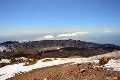 Panoramasikt från det Teide berget Arkivfoto