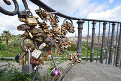 Panoramasikt från ovannämnt av den Florence staden Arkivbild