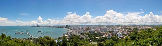 Panoramasiktspunkt av Pattaya, Thailand Royaltyfri Foto