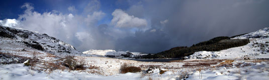 panoramasnowdonia Fotografering för Bildbyråer
