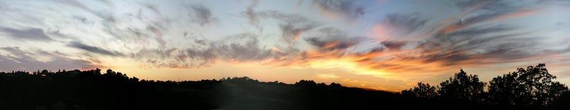 panoramasolnedgång Arkivbild